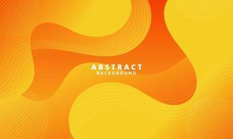Abstract Orange Fluid Wave Background vector