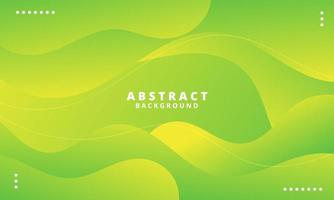 Abstract Green Fluid Wave Background vector