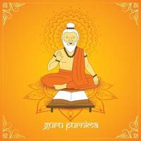 Poster of Guru blessing the all. vector
