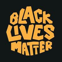 Black Lives Matter Typography Style vector