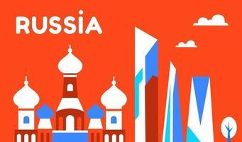 Russia. Russian culture, religion. Vector illustration