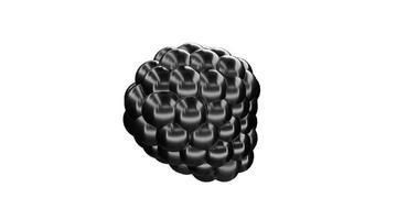 Black Metaball Sphere able to loop seamless video