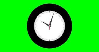 orologio da parete su sfondo verde timelapse video