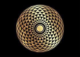 Torus Yantra, Gold Hypnotic Eye sacred geometry basic element vector
