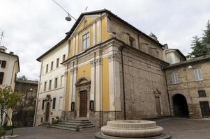 Church of San Rufo in the center of Rieti, Italy, 2020 photo