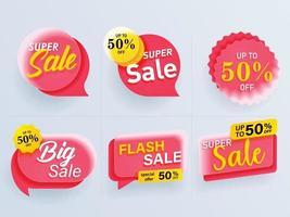 Modern sale banner. Special offer banner for web design and promotion vector