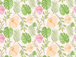 Beautifull Floral Seamless Pattern Design Template vector