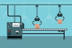 Automated industrial production line vector