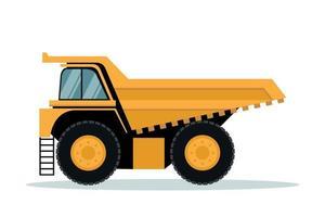 Design of mining truck. Heavy machinery vector