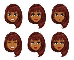 African American business woman cartoon character vector