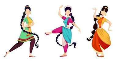 Happy Onam. Indian women dancing vector