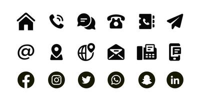 Personal Contact Icons Set vector