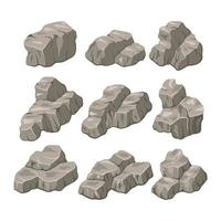 rock stone vector illustration. rock and stone flat style.