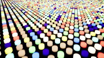 pannello informativo dei pulsanti lampeggianti. sfondo animato in movimento. video