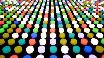 painel de informações de botões intermitentes. fundo em movimento animado. video