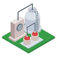 Oil Refinery Industry vector