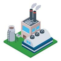 Cement Factory Concepts vector