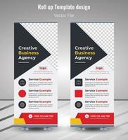 Corporate Rollup Banner, Blue Roll Up Banner template vector