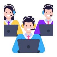 Call Center and Agents vector