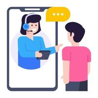 Agent Video Call vector