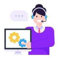 Technical Support Agent vector