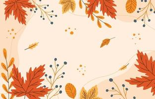 Hello Autumn Leaves Background vector
