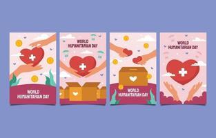 World Humanitarian Day Card Collection vector