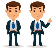 Businessman cartoon character in smart clothes, office style vector