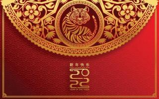 Happy chinese new year 2022 year of the tiger vector