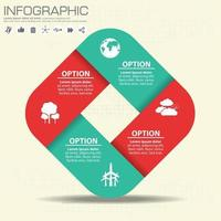 Business concept with 4 options, parts, steps vector