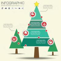 Infographic tree template with options vector