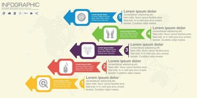 Step and arrow vector infographic. 4 options.
