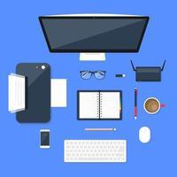 Office Equipment. Vector illustration