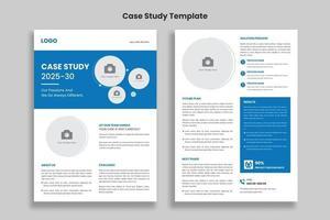 plantilla de estudio de caso, folleto de doble cara, diseño de plantilla de póster vector