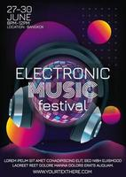 disco ball music festival poster for party vector
