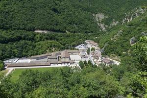 Aerial view of Roccaporena landscape, Italy photo