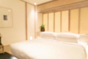 Desenfoque abstracto interior de dormitorio de hotel de lujo resort para el fondo foto