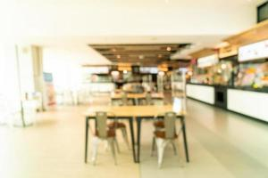 Abstract blur food court in shopping mall for background photo