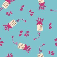 Seamless pattern cute menstruation period object. vector