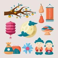 Chuseok Icon Collection vector