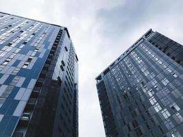 Big buildings in Kharkov city, Ukraine photo