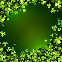 Realistic Clover Field Leaves Background vector