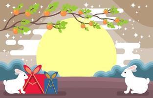 Happy Chuseok Festival Background vector
