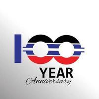 100 años aniversario logo vector ilustración color blanco