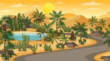 Desert road background vector