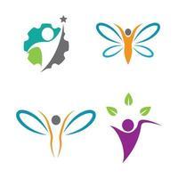 Wellness logo images design vector