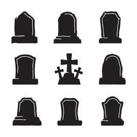 Gravestone in the cemetery. Halloween night zombie grave vector. vector