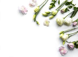 marco de flores foto