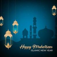 Happy Muharram Means Happy Islamic New Year vector