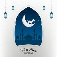 Eid al Adha Mubarak - Luxury Festival Card. vector